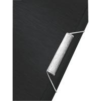 Teczka z gumką Leitz Style, 15 mm, czarny, Teczki, Archiwizacja dokumentów
