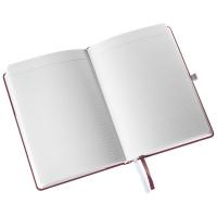 Notatnik w twardej oprawie Leitz Style A5, w kratkę, ciemnoczerwony, Notatniki, Zeszyty i bloki