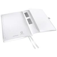 Notatnik w miękkiej oprawie Leitz Style A5, w kratkę, biały, Notatniki, Zeszyty i bloki