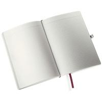Notatnik w miękkiej oprawie Leitz Style A5, w kratkę, ciemnoczerwony, Notatniki, Zeszyty i bloki
