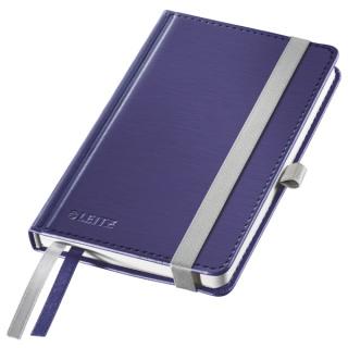 Notatnik w twardej oprawie Leitz Style A6, w kratkę, niebieski, Notatniki, Zeszyty i bloki
