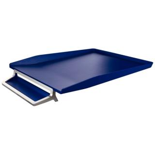 Półka na dokumenty Leitz Style z miejscem na długopis, niebieski, Szufladki na biurko, Drobne akcesoria biurowe