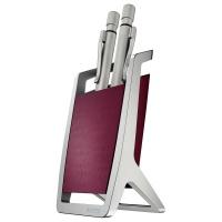 Kubek na długopisy Leitz Style, ciemnoczerwony, Przyborniki na biurko, Drobne akcesoria biurowe