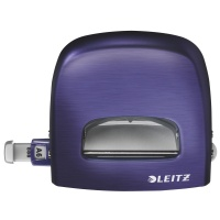 Dziurkacz duży metalowy Leitz Style, 10 lat gwarancji, 30 kartek, niebieski, Dziurkacze, Drobne akcesoria biurowe