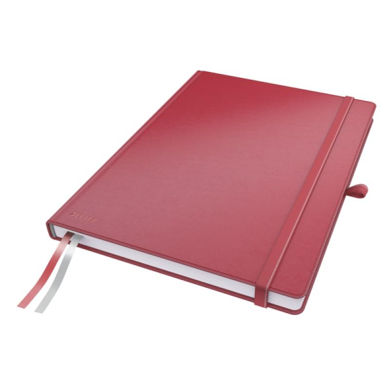 Notatnik Leitz Complete A4, w kratkę, czerwony, Notatniki, Zeszyty i bloki
