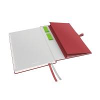 Notatnik Leitz Complete A5, w kratkę, czerwony, Notatniki, Zeszyty i bloki