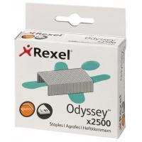Zszywki REXEL Odyssey, 9mm, 2500szt., wysokowydajne, srebrne, Zszywki, Drobne akcesoria biurowe