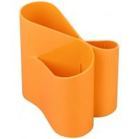 Przybornik na biurko ICO Lux, pomarańczowy, Przyborniki na biurko, Drobne akcesoria biurowe