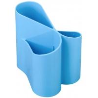 Przybornik na biurko ICO Lux, jasnoniebieski, Przyborniki na biurko, Drobne akcesoria biurowe