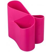 Przybornik na biurko ICO Lux, różowy, Przyborniki na biurko, Drobne akcesoria biurowe