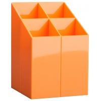 Przybornik na biurko ICO, z przegrodami, pomarańczowy, Przyborniki na biurko, Drobne akcesoria biurowe