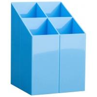 Przybornik na biurko ICO, z przegrodami, jasnoniebieski, Przyborniki na biurko, Drobne akcesoria biurowe