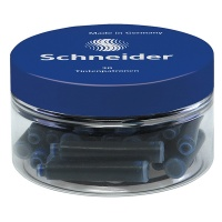 Cartridges for pens, SCHNEIDER, plastic jar, 30 pcs, blue