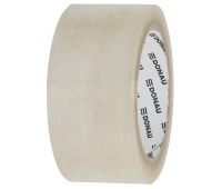 Packing tape, DONAU Hot-Melt, 48 mm, 66 m, 50micr, transparent