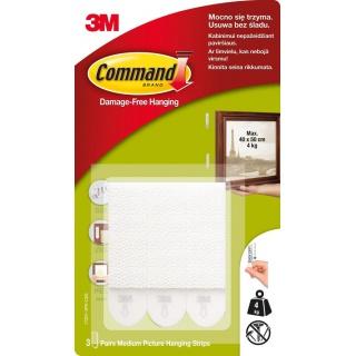 Rzepy Command™ (17201 PL), do wieszania obrazów, duże, 3 szt., białe, Haczyki, Prezentacja