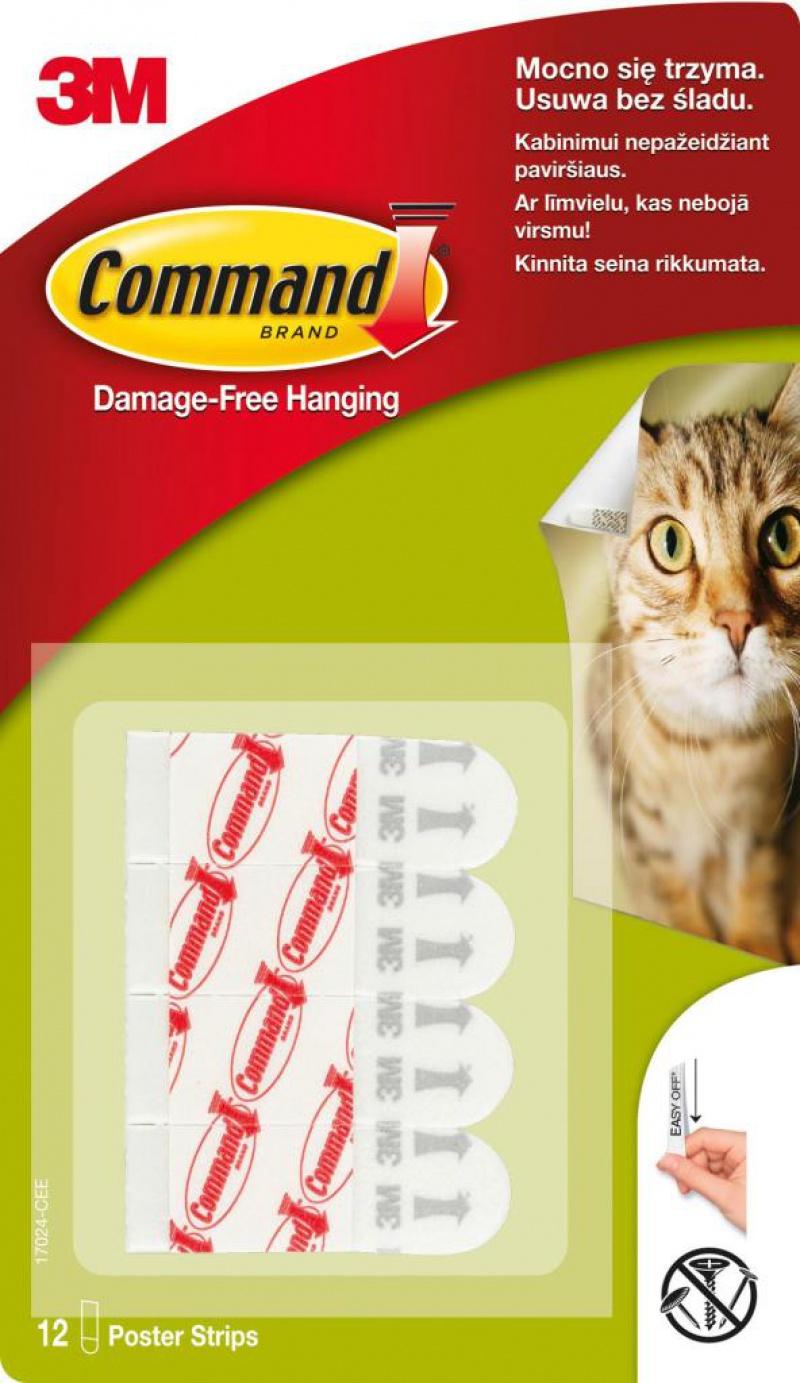 Paski wymienne do haczyków wielokrotnego użytku COMMAND™ (17024 PL), 12 szt., Haczyki, Prezentacja