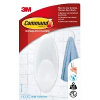Hak COMMAND™ (BATH-17), duży, biały, Haczyki, Prezentacja