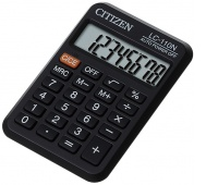 Pocket calculator, CITIZEN LC-110N, 8-digit, 87x58mm, black
