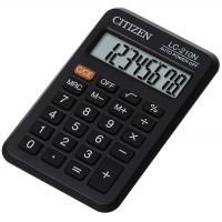 Kalkulator kieszonkowy CITIZEN LC-210N , 8-cyfrowy, 98x62mm, czarny, Kalkulatory, Urządzenia i maszyny biurowe