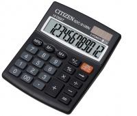 Kalkulator biurowy CITIZEN SDC-812BN, 12-cyfrowy, 124x102mm, czarny, Kalkulatory, Urządzenia i maszyny biurowe