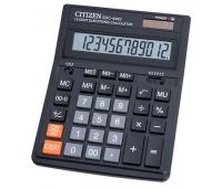 Kalkulator biurowy CITIZEN SDC-444S, 12-cyfrowy, 199x153mm, czarny, Kalkulatory, Urządzenia i maszyny biurowe