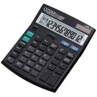Kalkulator biurowy CITIZEN CT-666N, 12-cyfrowy, 188x142mm, czarny, Kalkulatory, Urządzenia i maszyny biurowe