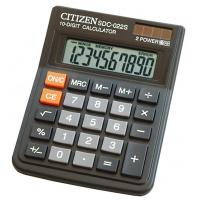 Kalkulator biurowy CITIZEN SDC-022S, 10-cyfrowy, 120x87mm, czarny, Kalkulatory, Urządzenia i maszyny biurowe