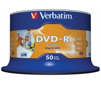 DVD-R VERBATIM AZO, 4.7GB, speed 16x, cake, 50pcs, printable
