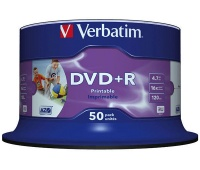 DVD+R VERBATIM AZO, 4.7GB, speed 16x, cake, 50pcs, printable