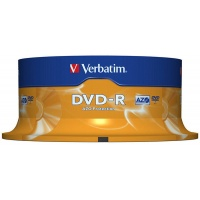 DVD-R VERBATIM AZO, 4.7GB, speed 16x, cake, 25 pcs, matt silver