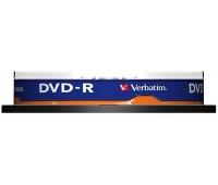 Płyta DVD-R VERBATIM AZO, 4,7GB, prędkość 16x, cake, 10szt., srebrny mat, Nośniki danych, Akcesoria komputerowe