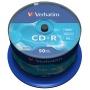 Płyta CD-R VERBATIM, 700MB, prędkość 52x, cake, 50szt., ekstra ochrona, Nośniki danych, Akcesoria komputerowe