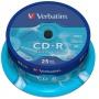 Płyta CD-R VERBATIM, 700MB, prędkość 52x, cake, 25szt., ekstra ochrona, Nośniki danych, Akcesoria komputerowe
