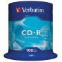 Płyta CD-R VERBATIM, 700MB, prędkość 52x, cake, 100szt., ekstra ochrona, Nośniki danych, Akcesoria komputerowe