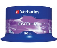 DVD+R VERBATIM AZO, 4.7GB, speed 16x, cake, 50 pcs, matt silver
