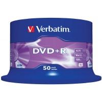 Płyta DVD+R VERBATIM AZO, 4,7GB, prędkość 16x, cake, 50szt., srebrny mat, Nośniki danych, Akcesoria komputerowe