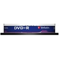 Płyta DVD+R VERBATIM AZO, 4,7GB, prędkość 16x, cake, 10szt., srebrny mat, Nośniki danych, Akcesoria komputerowe