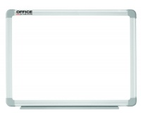 Dry-wipe magnetic whiteboard, OFFICE PRODUCTS, 90x60cm, lacquered, aluminium frame