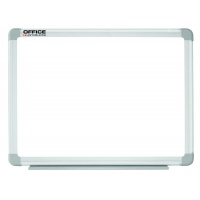 Dry-wipe magnetic whiteboard, OFFICE PRODUCTS, 150x100cm, lacquered, aluminium frame