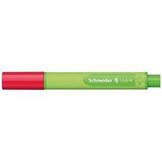 Cienkopis SCHNEIDER Link-It, 0,4mm, czerwony, Cienkopisy, pióra kulkowe, Artykuły do pisania i korygowania