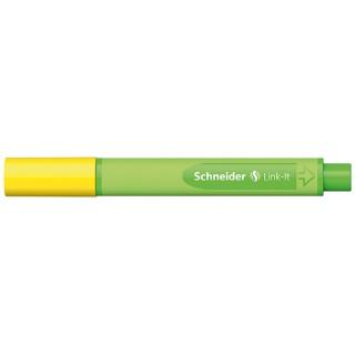 Cienkopis SCHNEIDER Link-It, 0,4mm, żółty, Cienkopisy, pióra kulkowe, Artykuły do pisania i korygowania