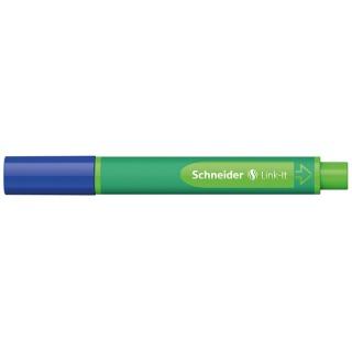 Flamaster SCHNEIDER Link-It, 1,0mm, niebieski, Flamastry, Artykuły do pisania i korygowania