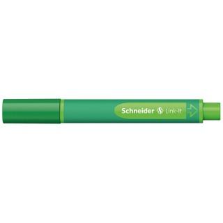 Flamaster SCHNEIDER Link-It, 1,0mm, zielony, Flamastry, Artykuły do pisania i korygowania