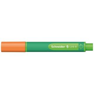 Flamaster SCHNEIDER Link-It, 1,0mm, pomarańczowy, Flamastry, Artykuły do pisania i korygowania