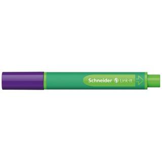 Flamaster SCHNEIDER Link-It, 1,0mm, fioletowy, Flamastry, Artykuły do pisania i korygowania