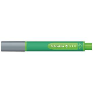 Flamaster SCHNEIDER Link-It, 1,0mm, szary, Flamastry, Artykuły do pisania i korygowania