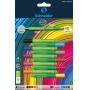 Cienkopis/Flamaster SCHNEIDER Link-It, 5szt. + 5szt. mix kolorów na blistrze, Flamastry, Artykuły do pisania i korygowania