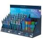 Display długopisów SCHNEIDER Slider Rave, Memo, Edge, 140szt., + 20 wkładów, mix kolorów
