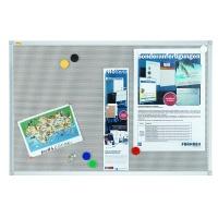 Magnetic-fabric board, FRANKEN Xtra!Line, 120x90cm, aluminium frame