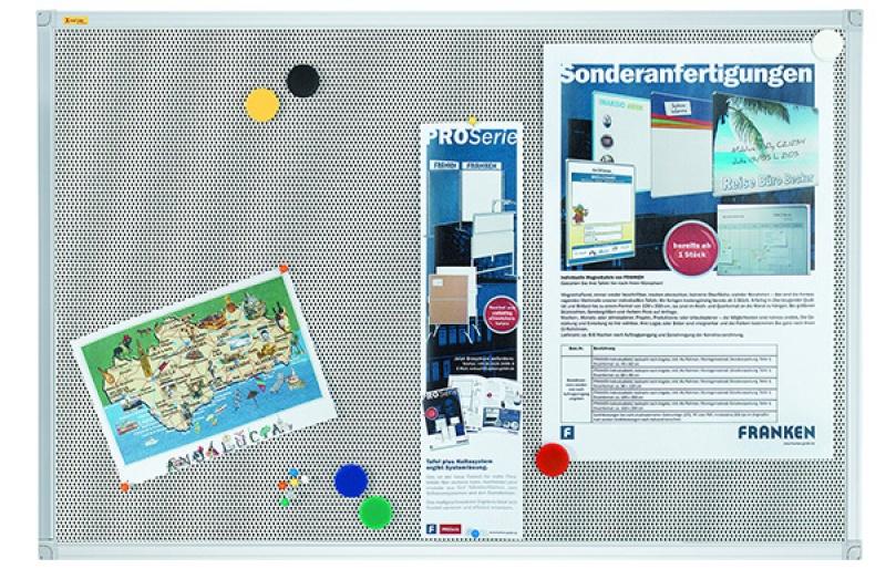 Tablica magnetyczno-tekstylna FRANKEN Xtra!Line, 120x90cm, rama aluminiowa, Tablice magnetyczno-tekstylne, Prezentacja